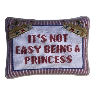 Hand Stitched Princess Throw Pillow
