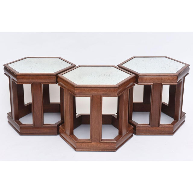 """Hexagonal top (point to point) measures 20.75"""" hexagonal top (flat side to flat side) measures 18""""."""