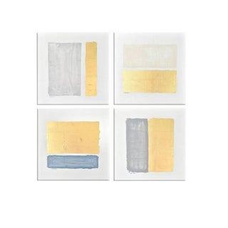 Abstract Gilded Bars - Set of 4 For Sale