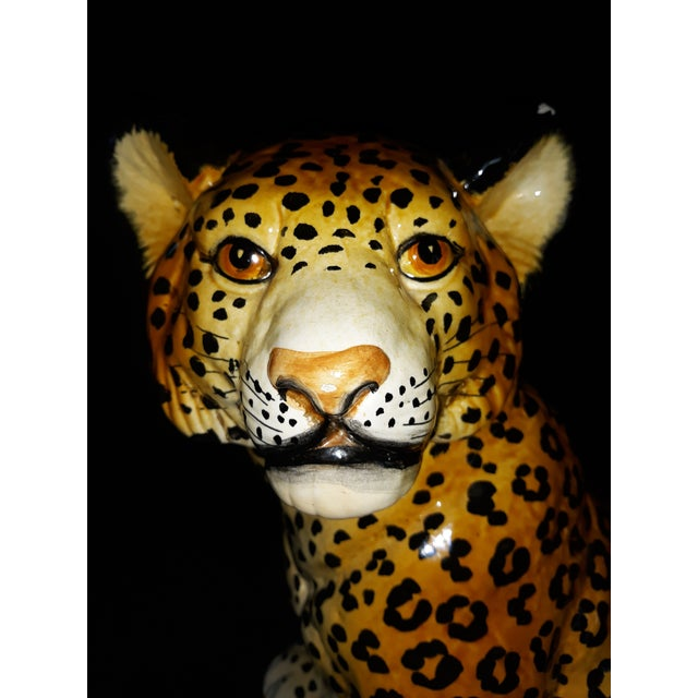 Leopard Cub Ceramic Figurine Hand Painted Made in Italy NEW Safe Packaging