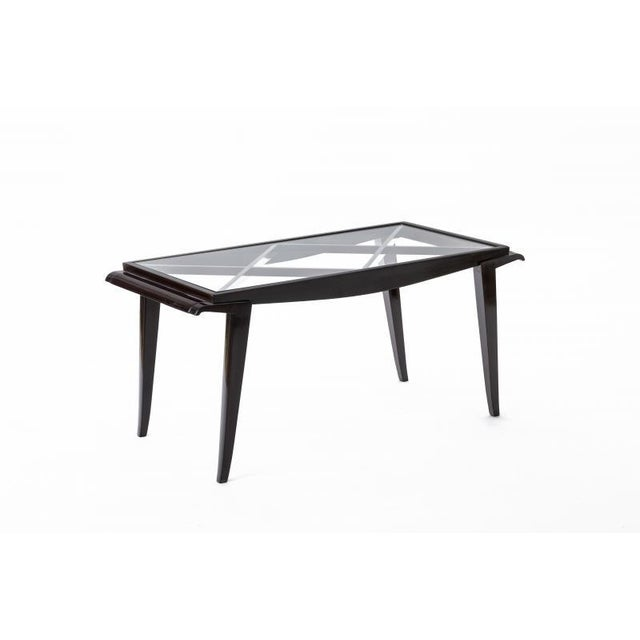 Maxime Old documented mahogany refined coffee table.