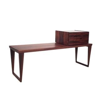 1960s Danish Modern Rosewood Bench & Drawer