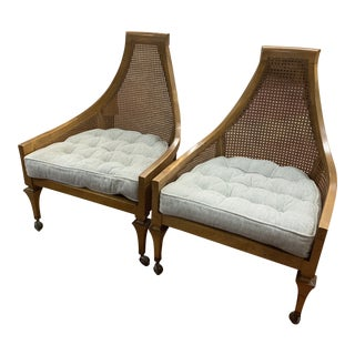 1960s Vintage Mid Century Modern Adrian Pearsall Walnut Lounge Chairs-a Pair For Sale