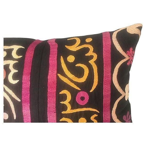Antique Suzani Fragment Pillow - Image 3 of 6