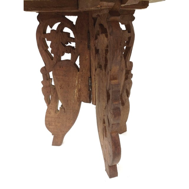 Hand-Carved Indian Sandalwood Display Table For Sale In Boston - Image 6 of 11
