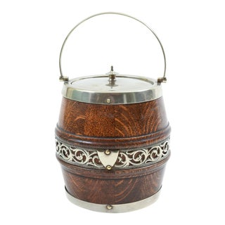 Vintage English Barware / Tableware Covered Ice Bucket For Sale
