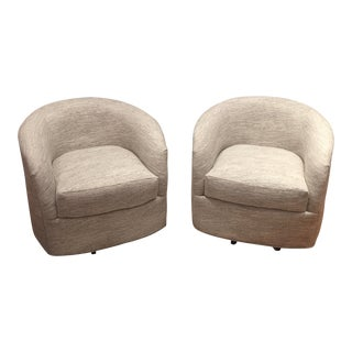 Swivel Barrel Chairs - A Pair For Sale