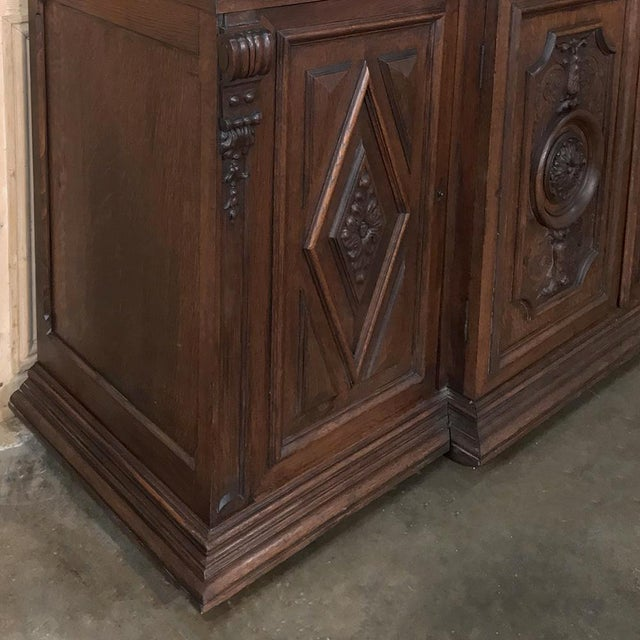 19th Century French Renaissance Grand Bookcase For Sale - Image 11 of 13