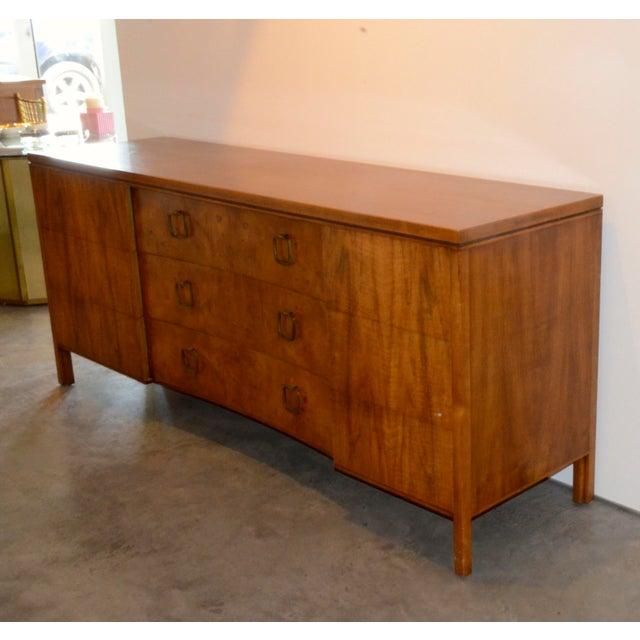 John Stuart for Widdicomb Walnut Dresser with Brass Pulls - Image 2 of 8