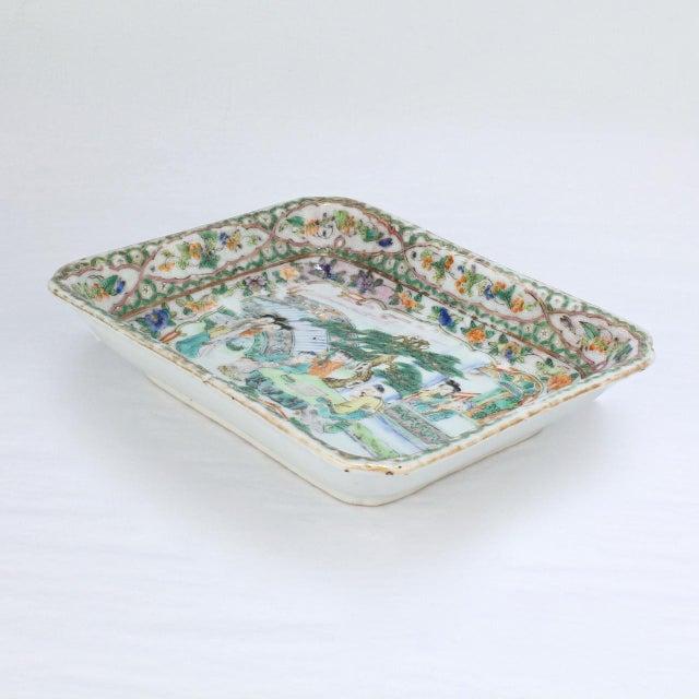 Antique Chinese Export Porcelain Famille Verte Bowl For Sale - Image 11 of 13