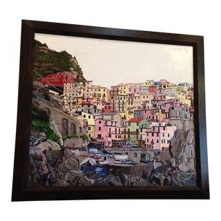 """""""Manarola Cinque Terre"""" Original Painting For Sale"""