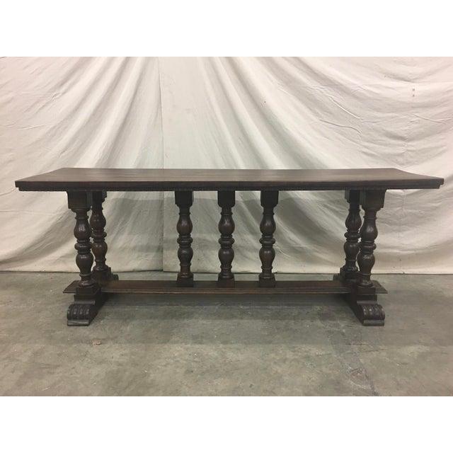 18th C Italian Walnut Console Table Sofa Table For Sale - Image 11 of 11
