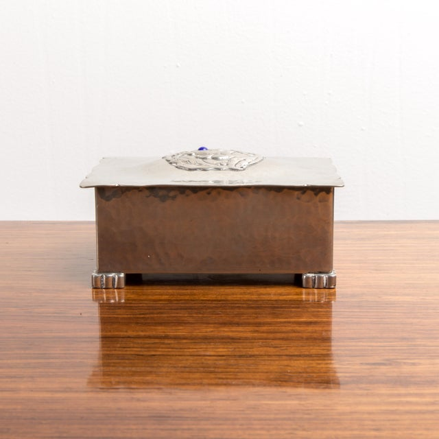 Silver Cigarette/ Keepsake Box - made in Denmark