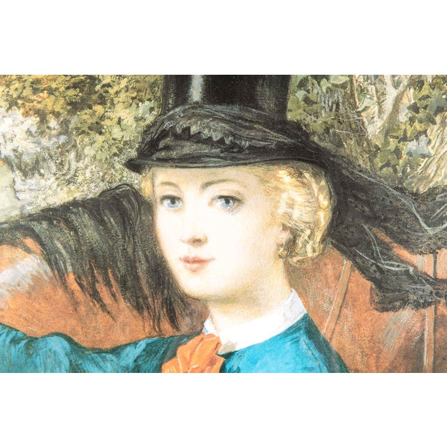 Black Early 20th Century French Print Lithograph With Painted Wood Frame For Sale - Image 8 of 12
