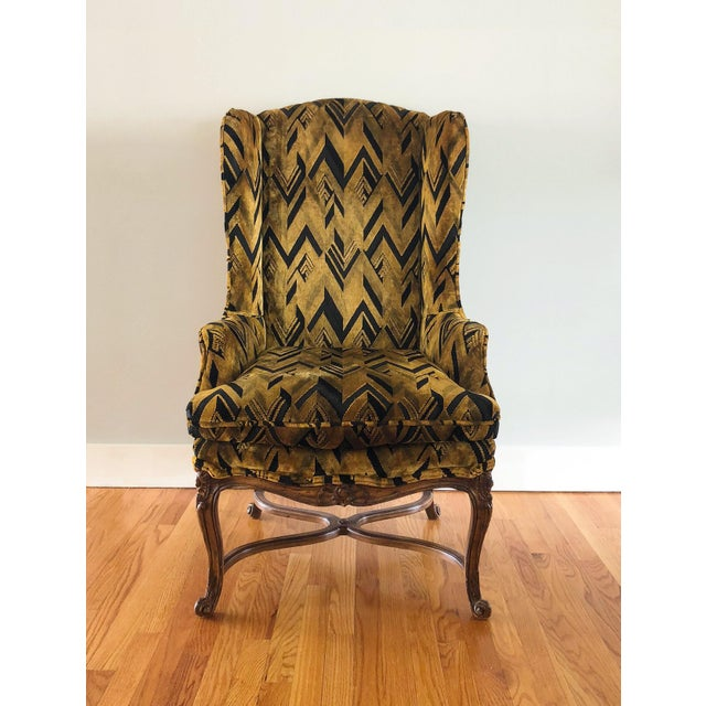 Chevron Wingback Accent Arm Chair - Image 11 of 11