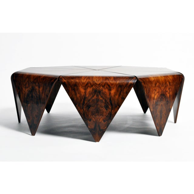 Mid-Century Modern Hungarian Walnut Octagonal Coffee Table For Sale - Image 3 of 13