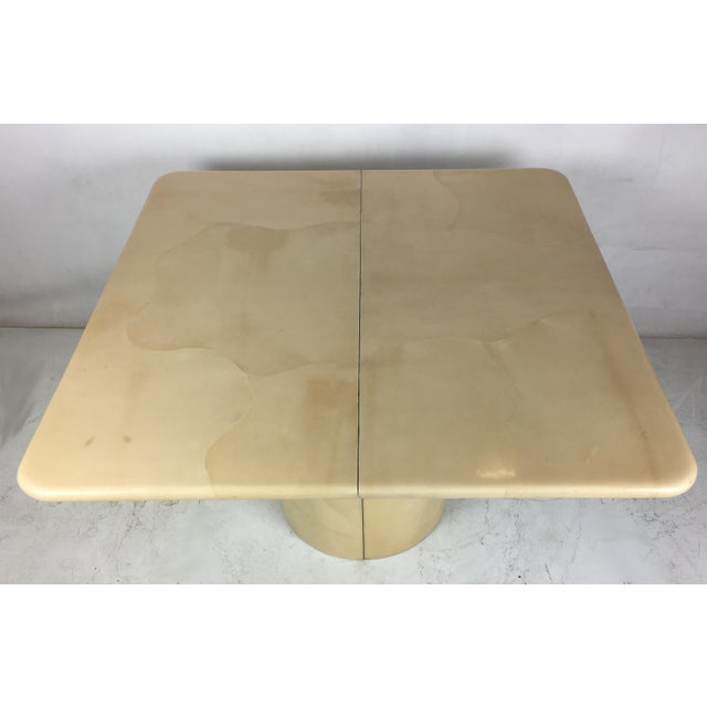 1980s 1980s Modern Parchment Extension Dining Table by Ron Seff For Sale - Image 5 of 6