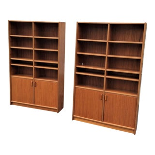 20th Century Danish Modern Bookcases - a Pair For Sale