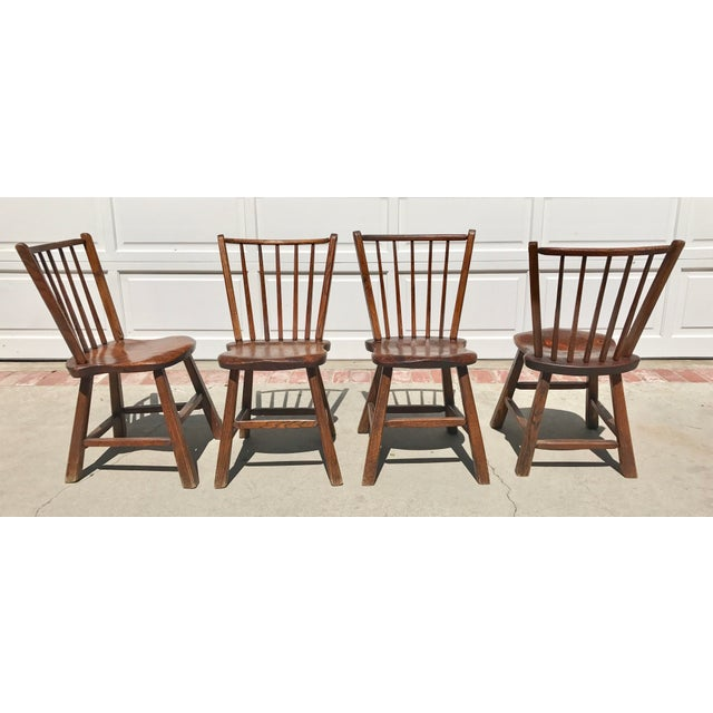 Early 1900's Wood Chairs - Set of 4 - Image 3 of 4