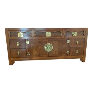 Chinese Style Henredon Credenza For Sale