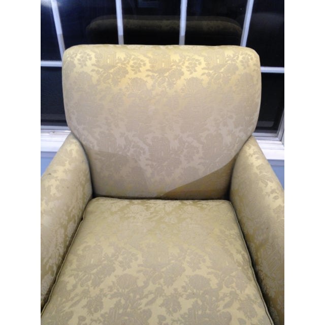 Coil Sprung Arm Chair Vintage. Furniture tag indicates chair was redone in NYC in the 1930s. This went with a formal...