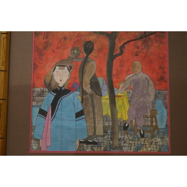 Modern Modern Colorful Chinese Art Print For Sale - Image 3 of 11