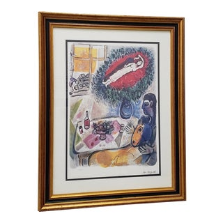 Marc Chagall Limited Edition Color Lithograph For Sale