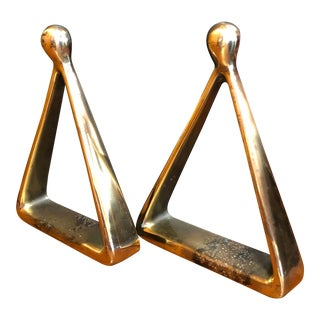 1950's Triangle Bookends, Ben Seibel for Jenfred Ware For Sale