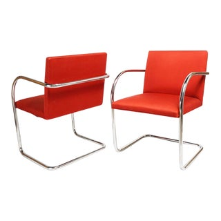 Pair of Mid-Century Modern Mies Van Der Rohe Brno Chairs For Sale
