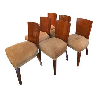 Ralph Lauren Modern Hollywood Solid Mahogany Chairs - Set of 2 For Sale