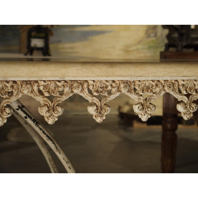 Large Antique French Iron and Marble Butcher Display Table, Circa 1915 For Sale - Image 5 of 11