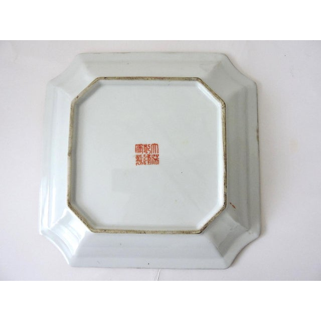 Antique Chinese Rose Mandarin Enamel Porcelain Plate For Sale - Image 4 of 5