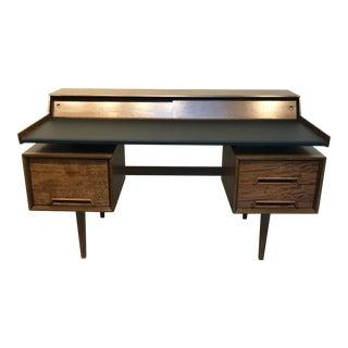 1950s Danish Modern John Van Koert for Drexel Tanker Desk For Sale