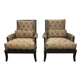 Pair of McGuire Lounge Chairs For Sale