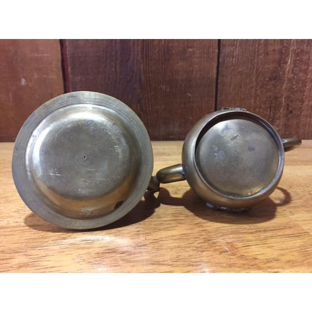 Vintage Brass Jeweled Tea Pots - A Pair - Image 8 of 9