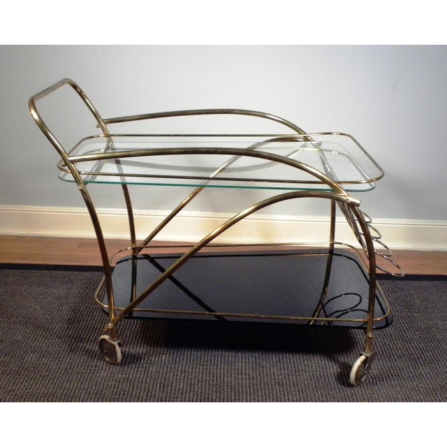 Vintage Deco Style Bar Cart - Image 7 of 8