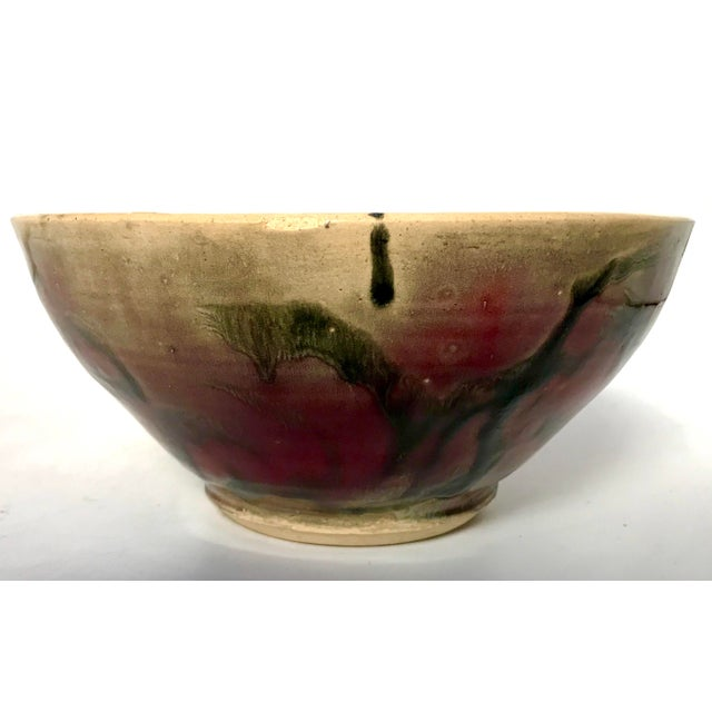 Studio Pottery Drip Glaze and Oxblood Bowl Signed For Sale In New York - Image 6 of 11
