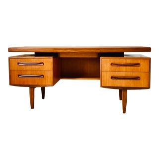 Ib Kofod Larsen Floating Top Teak Desk for G-Plan For Sale