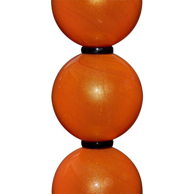 2010s Orange Murano Glass Lamps For Sale - Image 5 of 10