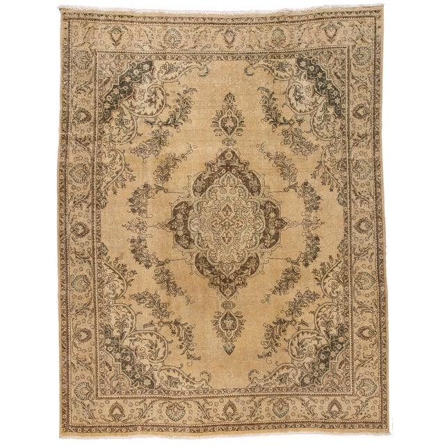 "Textile Apadana - Vintage Persian Tabriz Rug, 9'10"" X 12'7"" For Sale - Image 7 of 7"