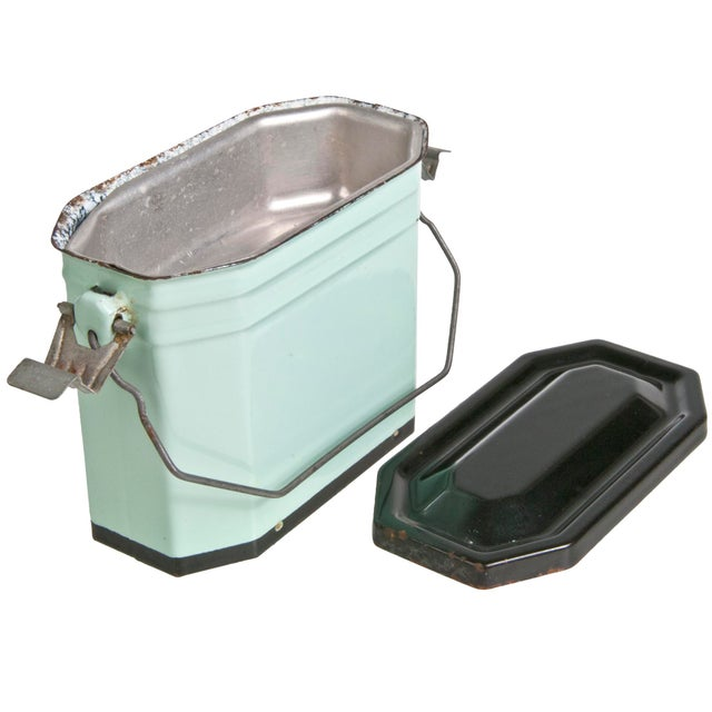 Vintage French Enamel Lunch Pail - Image 3 of 4