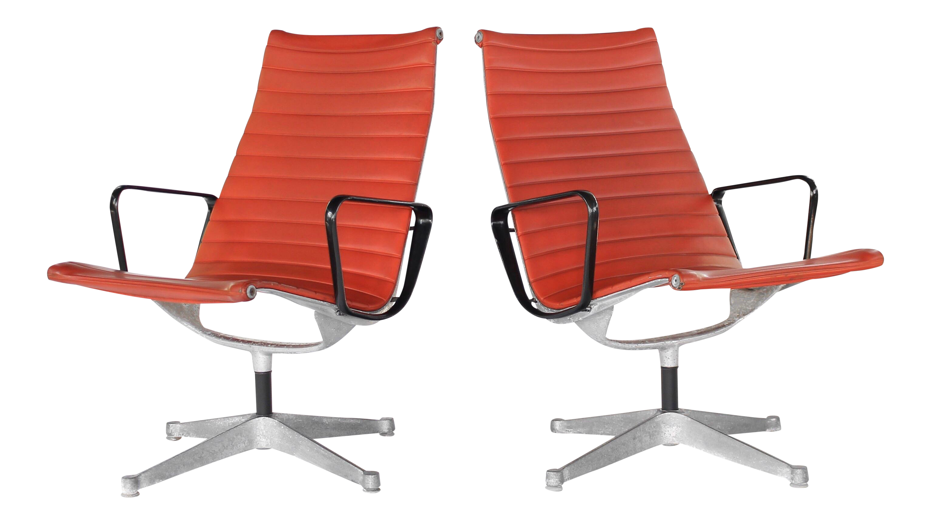 Mid century modern office furniture New 1960s Midcentury Modern Eames Group Aluminum Lounge Chairs For Herman Miller Pair Chairish Vintage Used Midcentury Modern Office Chairs Chairish