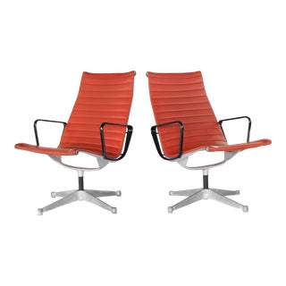 1960s Mid-Century Modern Eames Group Aluminum Lounge Chairs for Herman Miller - a Pair For Sale