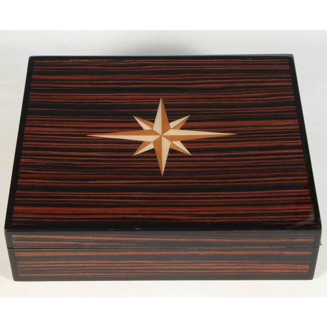 2010s Macassar Lidded Box For Sale - Image 5 of 6