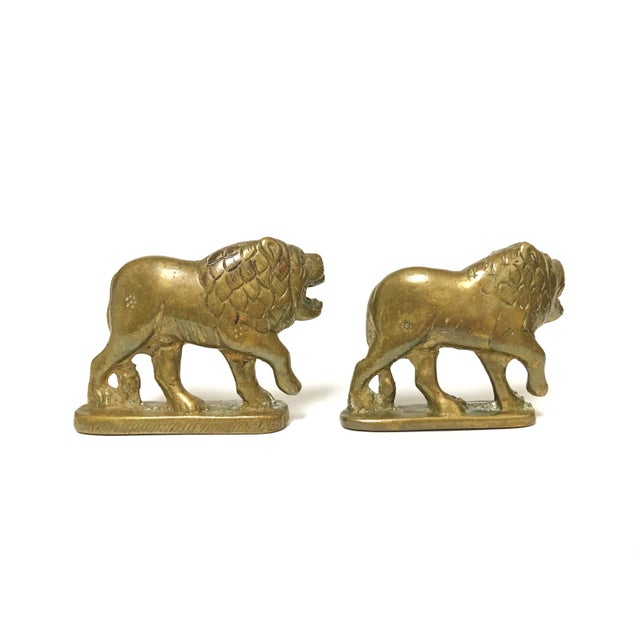 Vintage Solid Brass Lion Figurine Set Item Details: - a Pair -Made of Solid Brass -in Excellent Condition -Each One is...