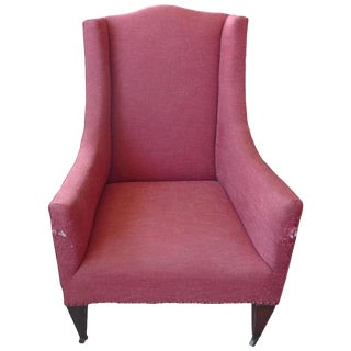 19th Century French Wing Back Armchair For Sale