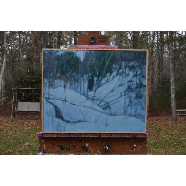 """Stephen Remick """"Dusk in Winter by the Brook"""" Painting For Sale - Image 9 of 9"""