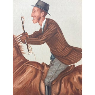 """1877 Original Vanity Fair Horse Sport Rider Print, """"Jim"""""""