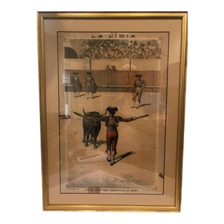 19th Century Bullfighting Print For Sale
