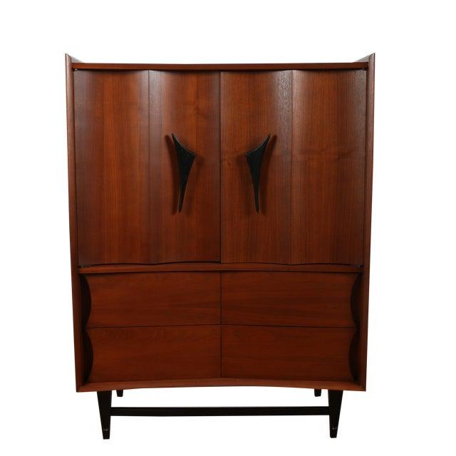 Mid Century Walnut Highboy Dresser - Image 1 of 4
